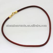 Alibaba fornecedor barato colar de couro colar de moda colar 2014
