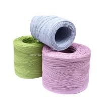 cabo de papel colorido trançado