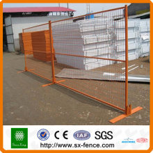 Pvc coated canada temporary fence with colors