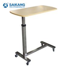 SKH041-1 Krankenhaus Höhenverstellbarer Überbetttisch mit Rädern