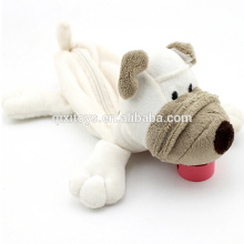 Caso de lápis de pelúcia cão caixa de lápis de escola brinquedos recheado caixa de lápis bonito