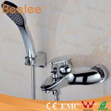Cuarto de baño montado en la pared contemporáneo Mezclador de ducha Faucet Inc Manguera y auricular cromado