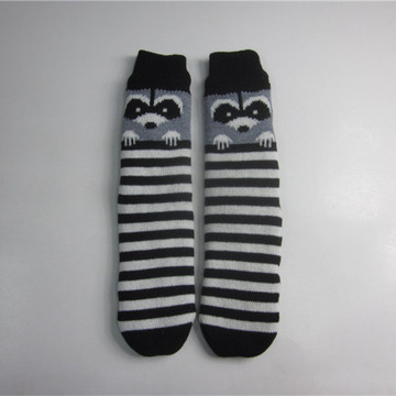 Striped Fox Jacquard Floor Socks