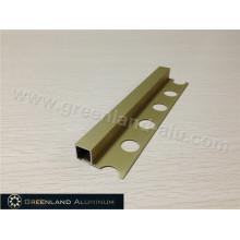 Matt Gold Aluminum Square Schluter Strip10mm Height