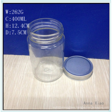 400ml Cylinder Glass Jars with Tin Lid