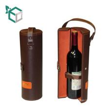Customization Kunstleder High-End-Leder Griff Träger Wein Papier Rohr Träger Wein Box
