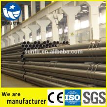 China fornecedor soldado preto ERW tubo de aço para barreira de choque