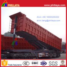 Transport en vrac Semi-remorque à benne basculante à trois essieux de 35 cbm