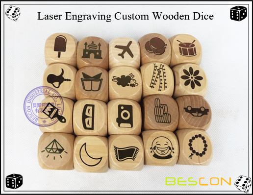Laser Engraving Custom Wooden Dice