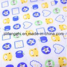 Tissu de flanelle imprimé 100% coton