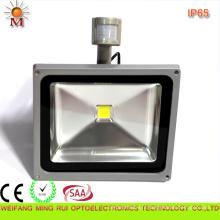 Ce / RoHS / SAA / preuve d'eau / lumière d'inondation de 50W LED avec le détecteur de mouvement