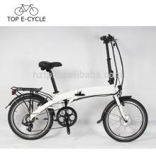 2017 venta caliente 36V 250W 20 pulgadas una rueda bicicleta eléctrica plegable