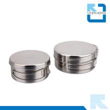 Portable e Popular 4 pedaços de aço inoxidável piquenique ao ar livre Lunchbox