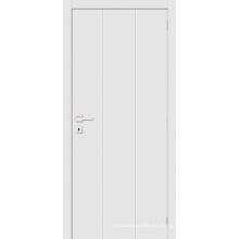 Estilo Simple Blanco Primed Flush Panel Puerta de la habitación Puerta de madera