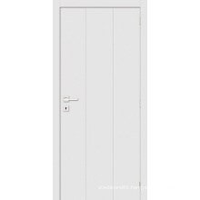 Simple Style White Primed Flush Panel Room Door Wood Door