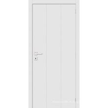 O estilo simples branco aprontou a porta da madeira da porta da sala do painel do resplendor