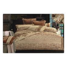 Tencel / jacquard de algodão + bordado lençóis de luxo casamento cama