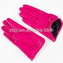 pink leather short adorn gloves