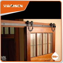 100% factory directly steel security sliding wood barn door hardware
