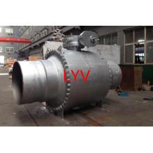 Actionné les valves à tournant sphérique complètement soudées par OIN d'OIN forgées de grande taille pour l'utilisation de gaz et d'eau