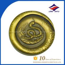 Moedas personalizadas de alta qualidade personalizadas Moedas de chapeamento de ouro 24K, moedas antigas