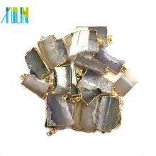 Colgante de oro de ágata Druzy