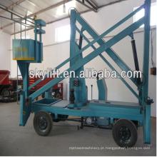 plataforma elétrica industrial do elevador de tabela da manivela