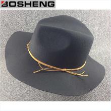 Chapeau de laine à laine plate à la mode avec ligne jaune