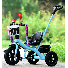 Steel frame kids tricycles with air tyres