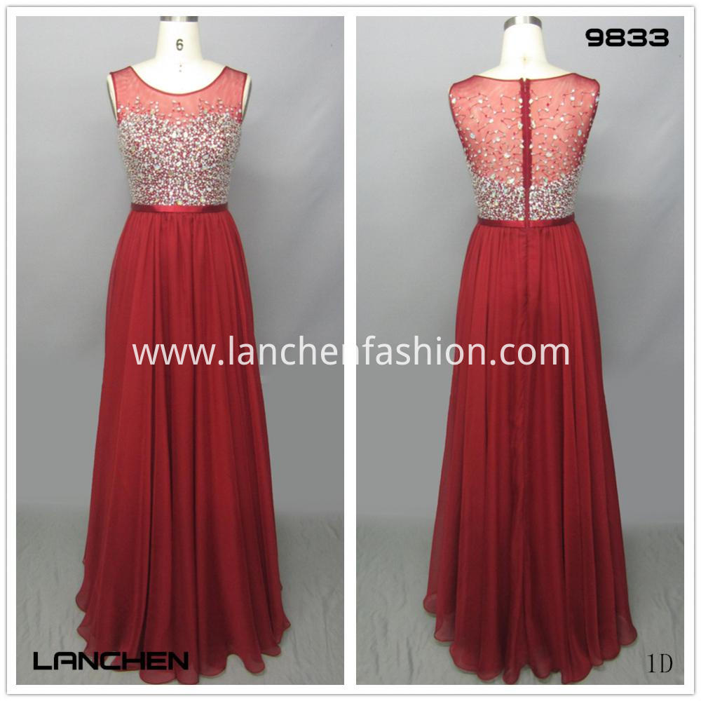 Red Beaded Evening Dresses