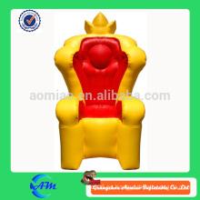 Trona inflable del rey superventas del superventas / trono inflable para las ventas