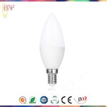 Bulbo por atacado da vela do diodo emissor de luz da luz E14 do dia C37 da iluminação de Hangzhou