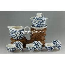 Juego de tazas de té de cerámica Qinghua Gift