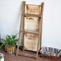 3 Tier Ladder Shelf Folding Bookshelf Storage Shelving Unit Display Free Stand Wall Rack Brown