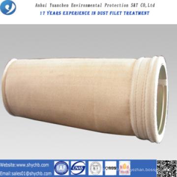 Sachet filtre non-tissé de PPS de collecteur de poussière pour l'usine d'asphalte