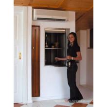Sala de máquinas 300kg Elevador del montaplatos de la cocina de las mercancías de la comida