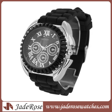 Men Diamond Watches with Silicone Strap