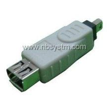 Firewire 1394 4P Stecker auf 6P Buchse Adapter