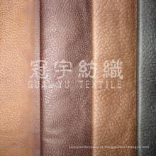 Tecido para sofá 100% poliéster de camurça com relevo e parte traseira