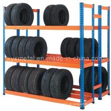 Rack de armazenamento de pneus revestido em pó seletivo