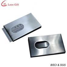 Alta qualidade logotipo personalizado Metal cartão titular atacado