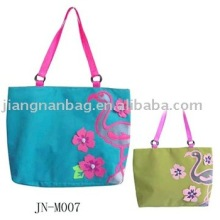 stylish printable jute bag, custom printed stylish canvas duffle bags