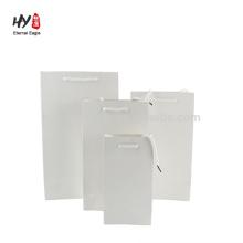 bolsa de papel blanco de alta calidad al por mayor de alta calidad de la tarjeta