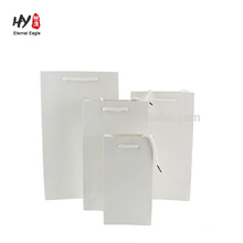 high quality custom wholesale white card paper bag