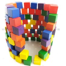Custom Colorful Children Kids Wooden Puzzle Building Block Toy