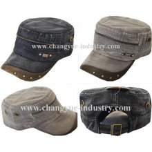 Design fashion men army cap with metal studs