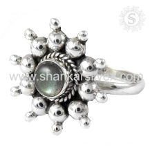 Joyeux bijoux en argent sterling à la labradorite délicat en gros 925 bijoux en argent sterling jaipur bijoux en argent faits main en argent