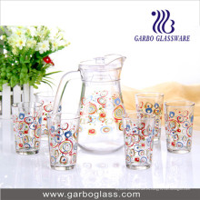 Cristalería determinada GB12039-Thyh del agua de la impresión 7PCS