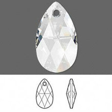 Faceted Clear Pendant 22x13mm,glass teardrop pendant