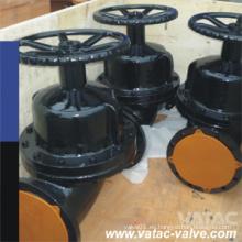 Neumático y eléctrico Ggg40 hierro dúctil Pn16 válvula de diafragma con bridas